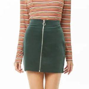 NWT, mini green corduroy skirt